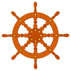 Ship navy wheel isolated