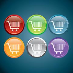 boutons icône caddies