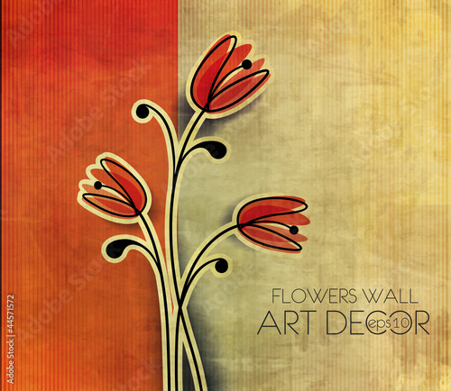 abstract spring flower background illustration.