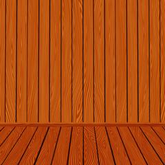 Vector wooden texture interior room background