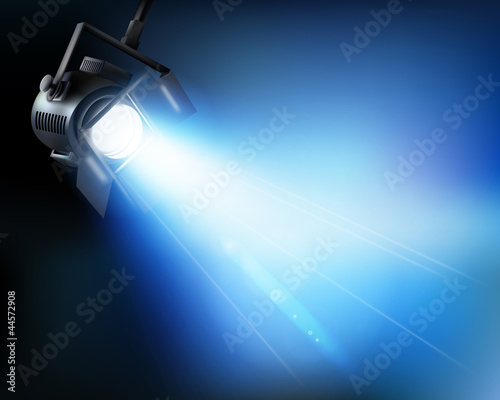 Light from a show. Vector illustration.