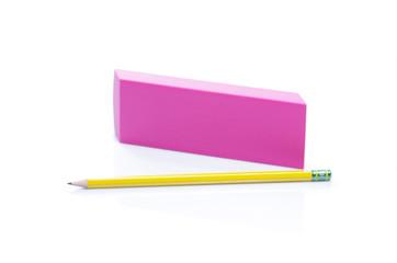 eraser and pencil