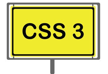 CSS3 Straßenschild