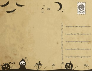 Hallowen postcard (back)