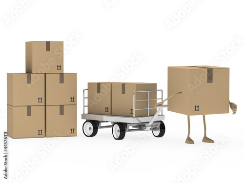 package figure draw transport trolley