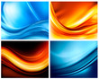 Set of business elegant color abstract backgrounds
