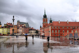 Warsaw in the rain