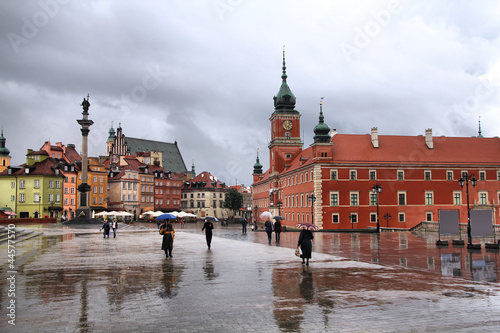 Warsaw in the rain