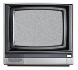 Old tv isolared on white