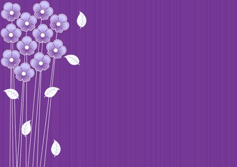 abstract purple background with flowers