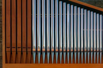 Verschiedene Orgelpfeifen
