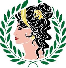 Aphrodite. stencil