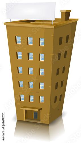 Cartoon Residential Building