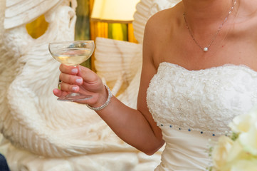 wedding toasts with glass