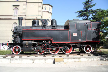 Black locomotive