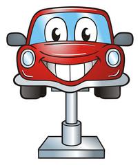 Car Lift Cartoon