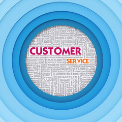 Business word cloud for business concept, Customer Service