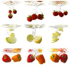 Wasserspiel mit Früchten