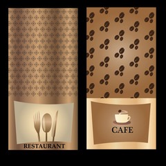 Restaurant and cafe cards