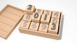 3d 2013 on wooden cubes