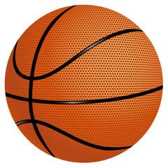 Basketball auf weißem Hintergrund