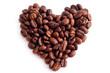 Постер, плакат: сердце из кофейных зёрен