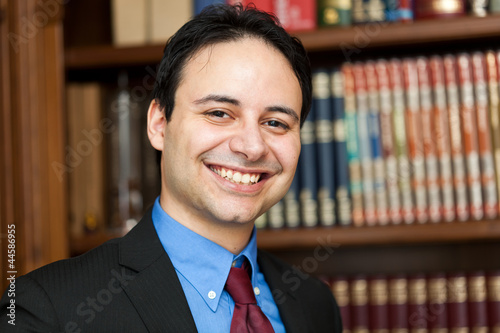 Smiling chairman