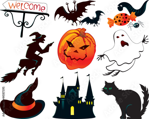 Abstract Halloween symbols