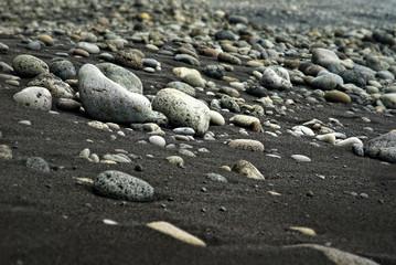 rocky beach on acores archipelago