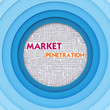 Business word cloud for business concept, Market Penetration