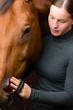 Grooming horse