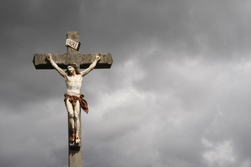 Jesus Christ crucifixion sculpture