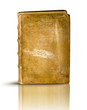 libro antico frontale su bianco