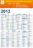 Calendrier 2013 personnalisable - calques / textes