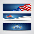 Labor day USA banner design set, vector
