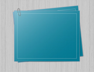 Blueprint paper on grey background