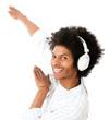 Cool man listening to music