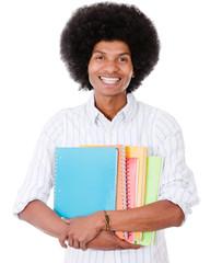 Happy afro student