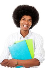 Happy black student