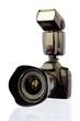 Leinwanddruck Bild - Digitale Spiegelreflexkamera Mit Blitz