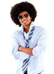 Confident black man
