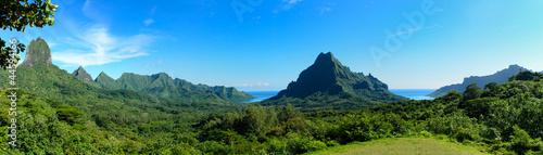 Leinwanddruck Bild Tropical Moorea panorama