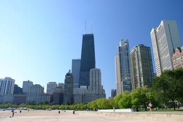 Chicago's Skyline and the Oak Street Beach