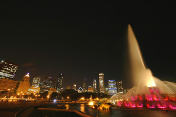 A Light Show at Buckingham Fountain