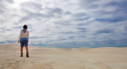Dune di sabbia,Sand dunes in Lancelin, Australia