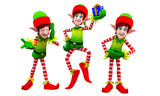 elves with small gift box poster