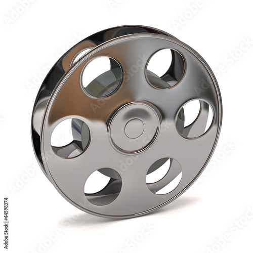 Deurstickers Retro 3d illustration of film reel