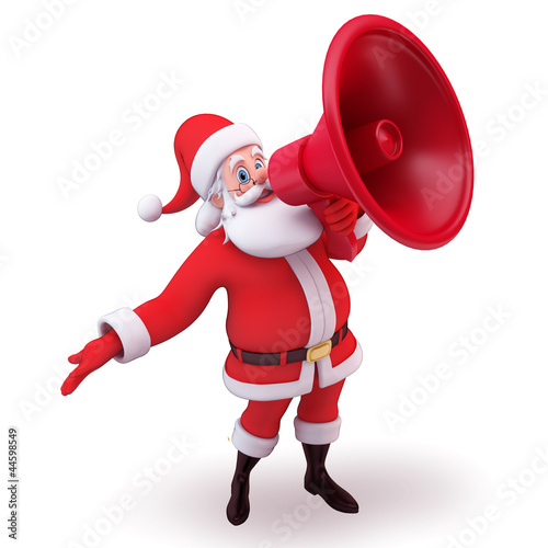 santa with loudspeaker