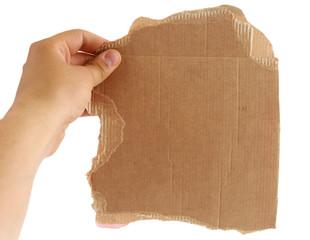 Cardboard sheet torn