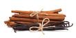 tied cinnamon and vanilla beans